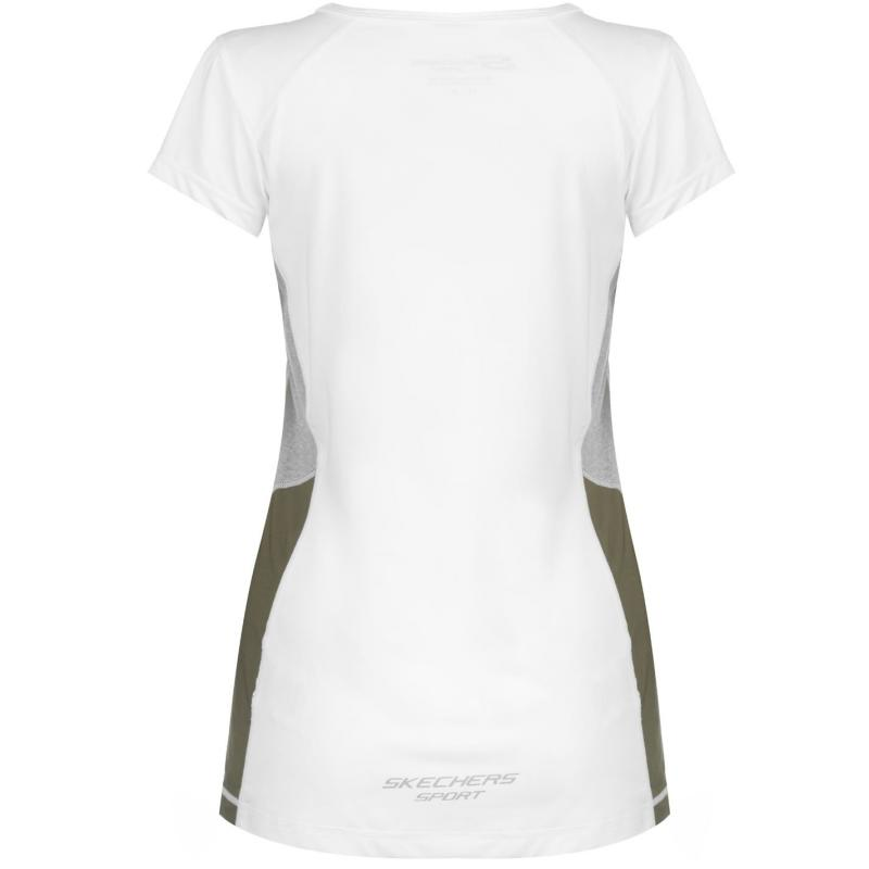 Skechers V Nack T Shirt Ladies White