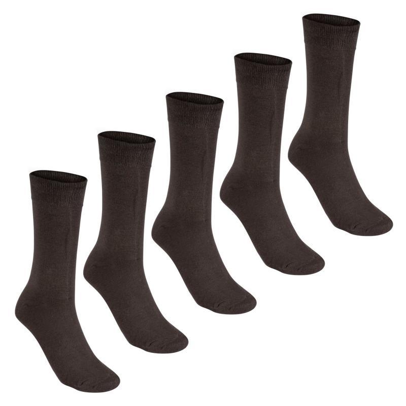 Ponožky Giorgio 5 Pack Essential Socks Mens Brown