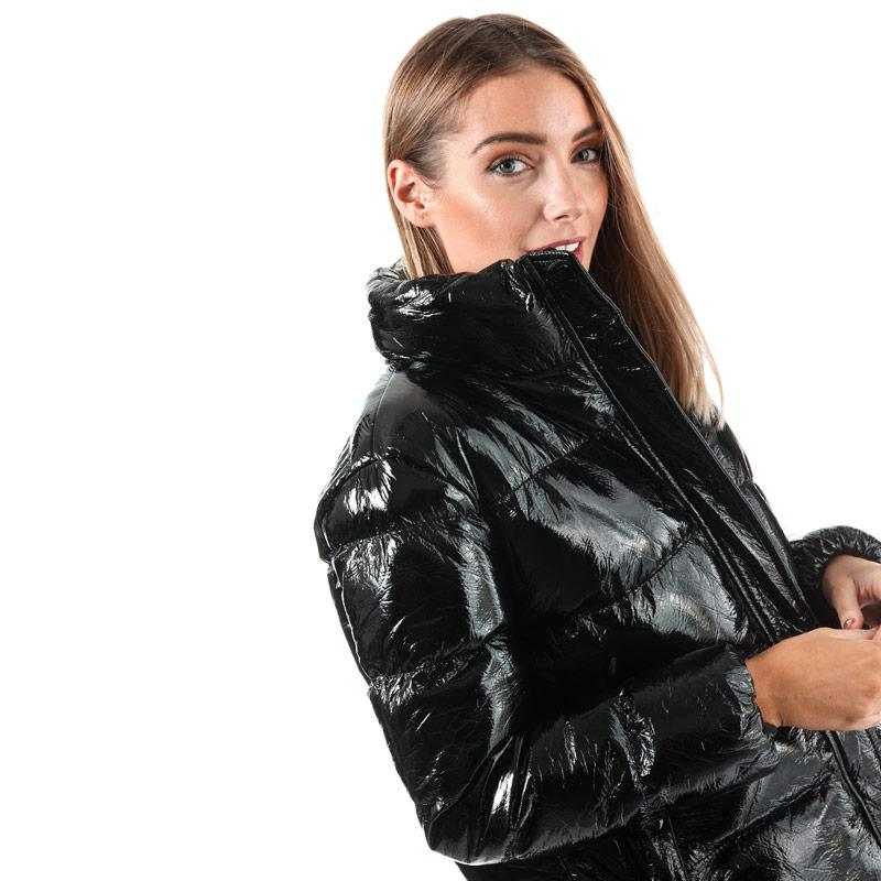 BLFD Womens Funnel Neck Puffa Jacket Black