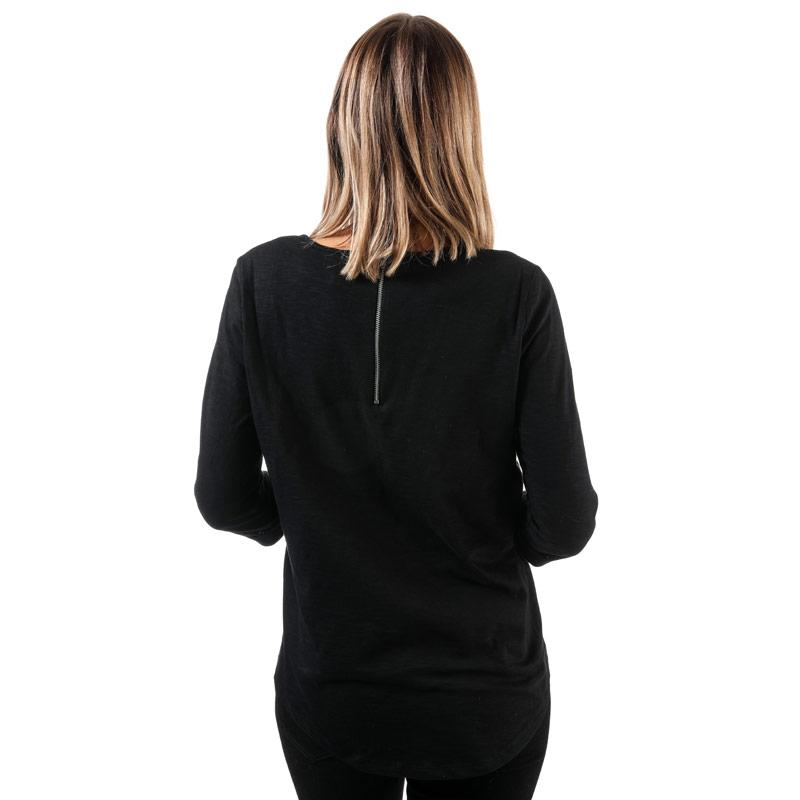 Vero Moda Womens Malka 3 Quarter Sleeve Top Black