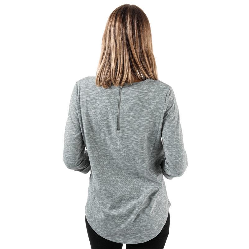 Vero Moda Womens Malka 3 Quarter Sleeve Top Grey Marl