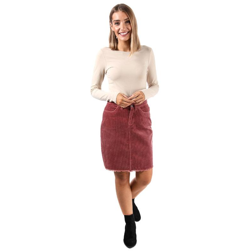 Sukně Only Womens Morris Cord Skirt Rust