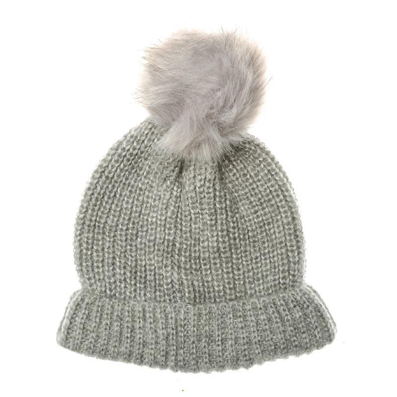 Vero Moda Womens Sara Beanie Hat Light Grey