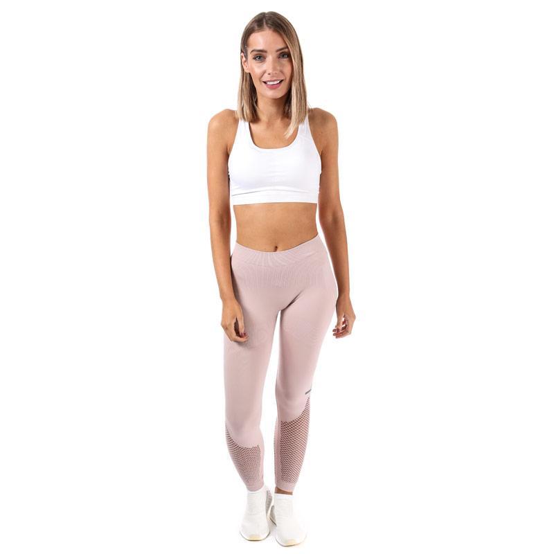 Sportovní kalhoty Adidas By Stella McCartney Womens The Seamless Mesh Tights Rose