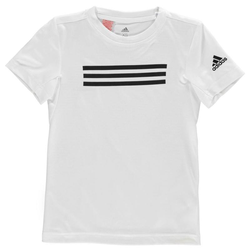 Adidas TR Brand T Shirt Junior Boys White/White