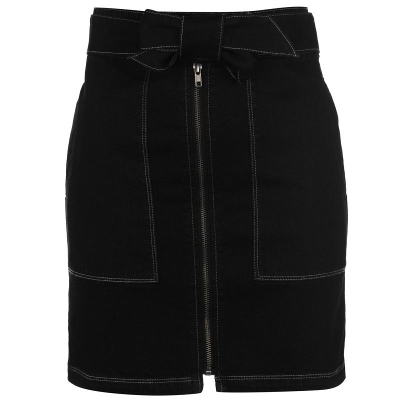 Sukně Firetrap Blackseal Utility Skirt Black