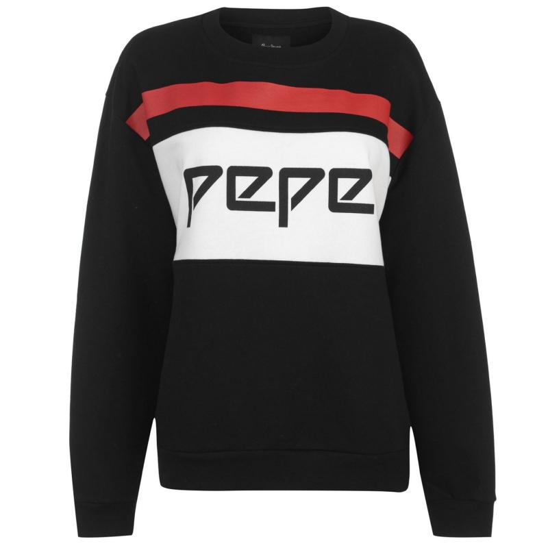 Mikina Pepe Jeans Frankie Sweater Black/White