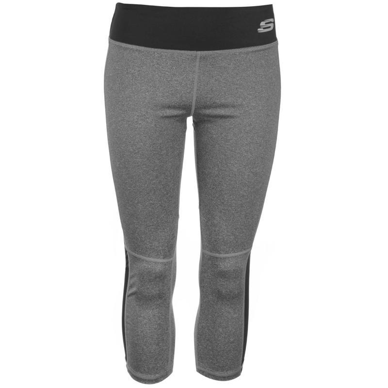 Skechers Panel Capri Pants Ladies Charcoal Marl