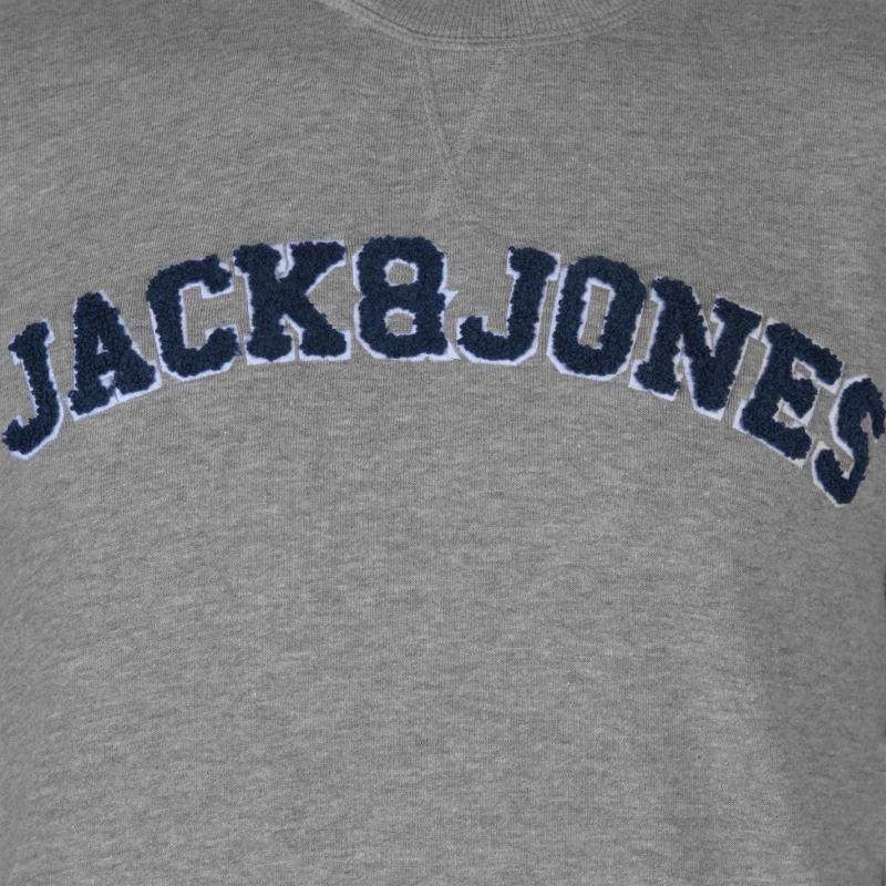 Mikina Jack and Jones Originals Nevada Crew Sweater Lt Grey Melange