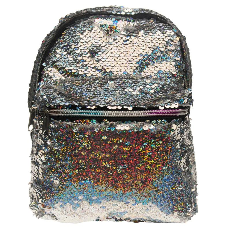 Miso Sequin Small Backpack Silver
