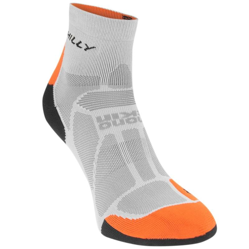 Ponožky Hilly Marathon Ankle Socks Mens Granite/Orange