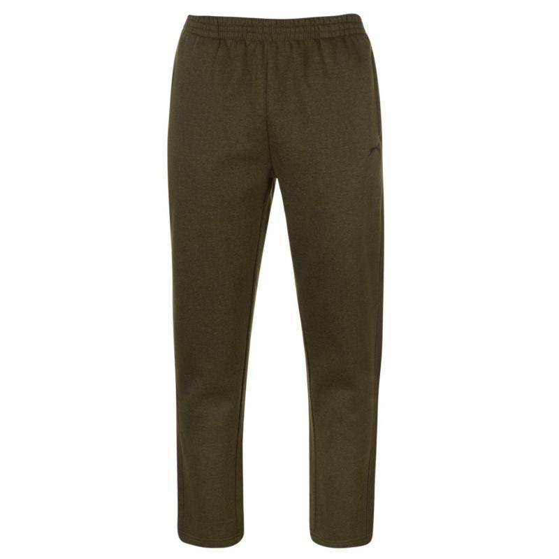 Tepláky Slazenger Open Hem Fleece Pants Mens Khaki Marl