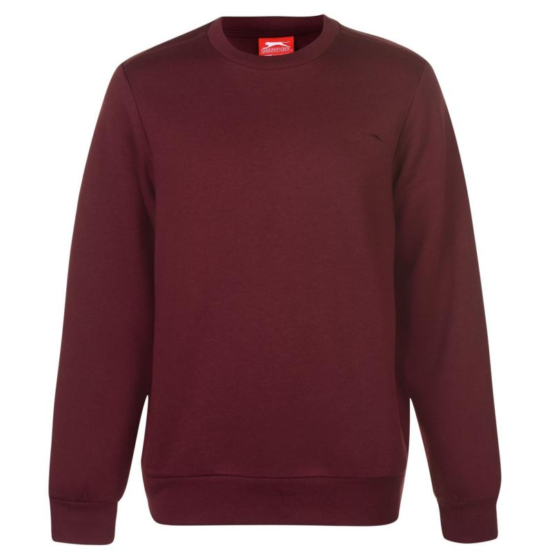 Mikina Slazenger SL Fleece Crew Sweater Mens Burgundy