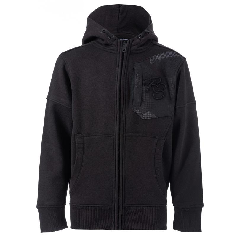 Ripstop Infant Boys Karmel Zip Hoody Black
