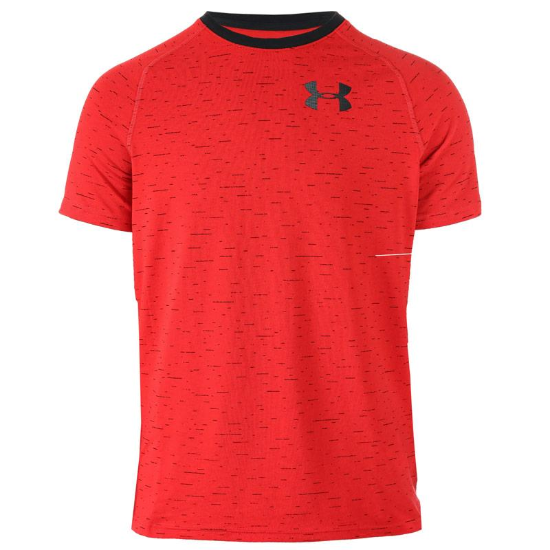 Tričko Under Armour Junior Boys Cotton Knit SS T-Shirt Red