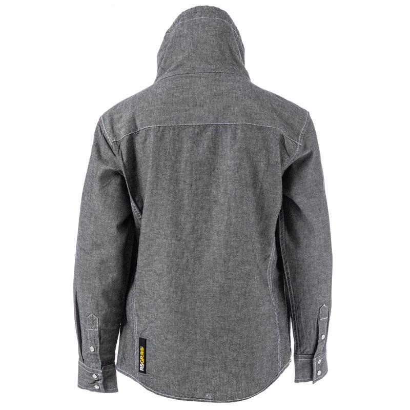 Košile Ripstop Junior Boys Equal Funnel Neck Shirt Grey