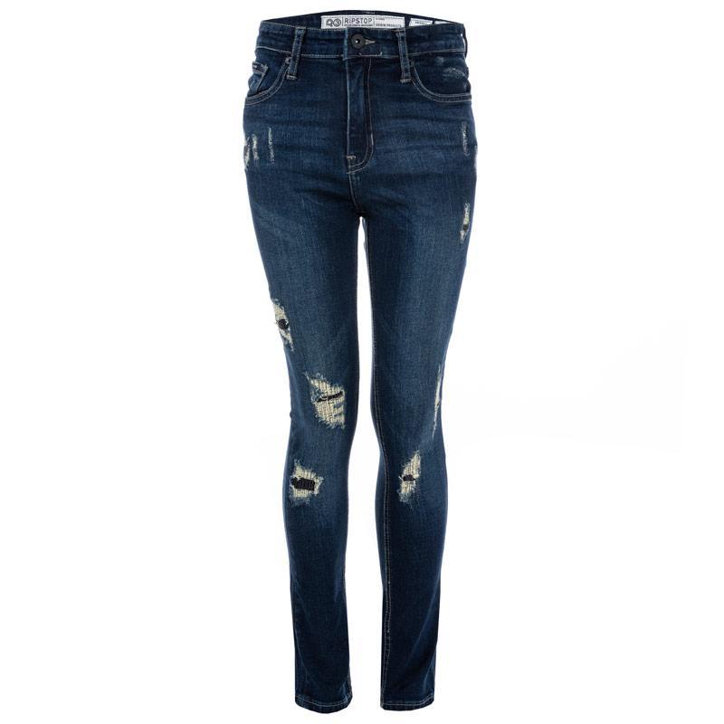 Kalhoty Ripstop Junior Boys Macave Rip & Repair Jeans Denim