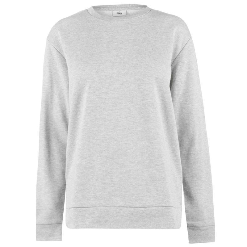 Mikina s kapucí Golddigga Embroidered Sweatshirt Ladies Grey Marl