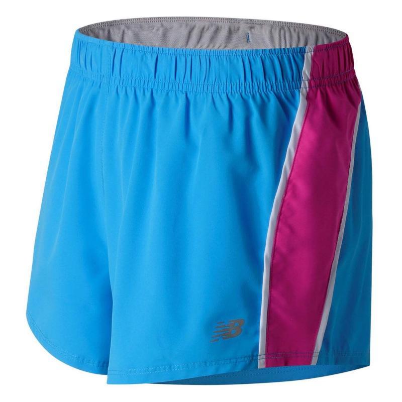 New Balance 3 Woven Shorts Ladies Bolt 469