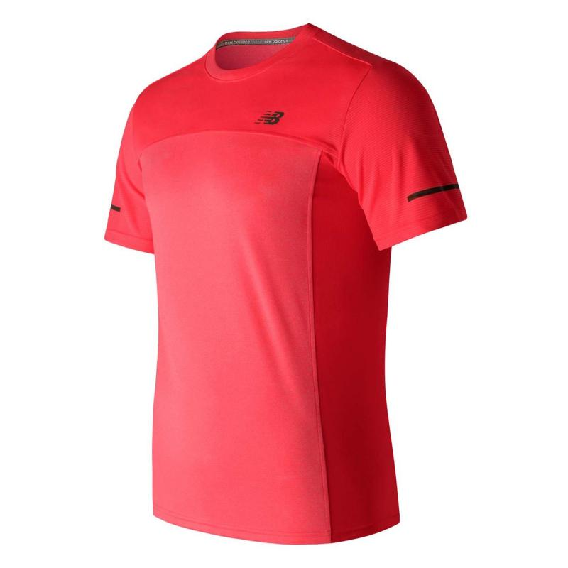 Tričko New Balance Colour Block T Shirt Mens Cherry 681