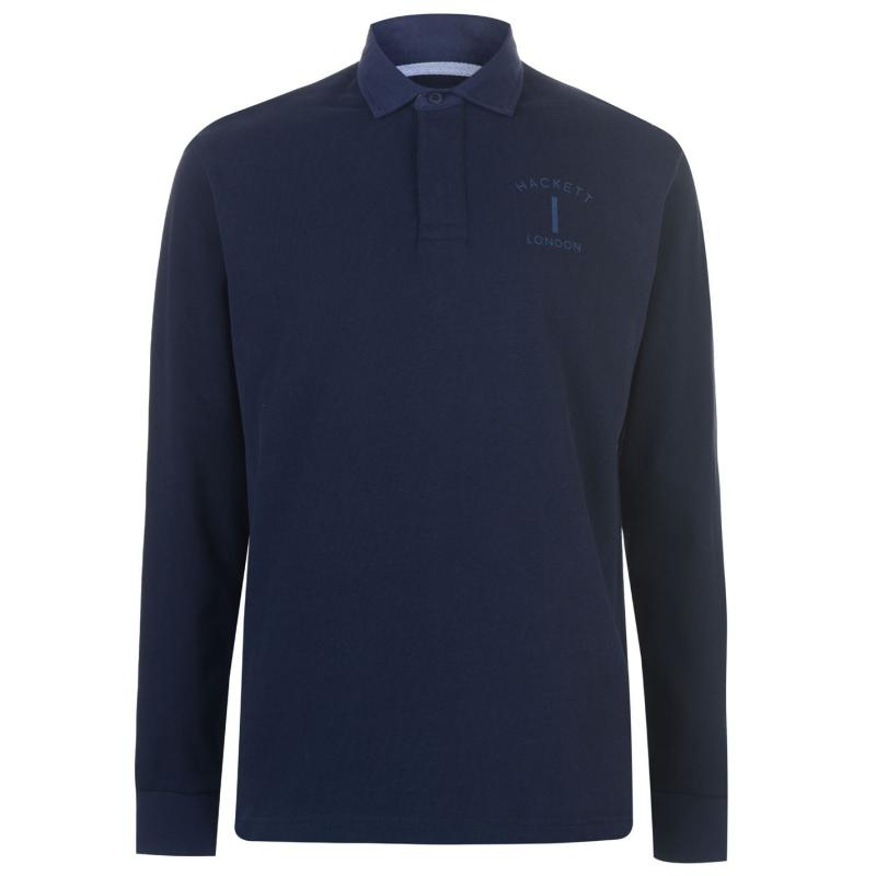 Hackett Classic Rugby Polo Shirt Navy