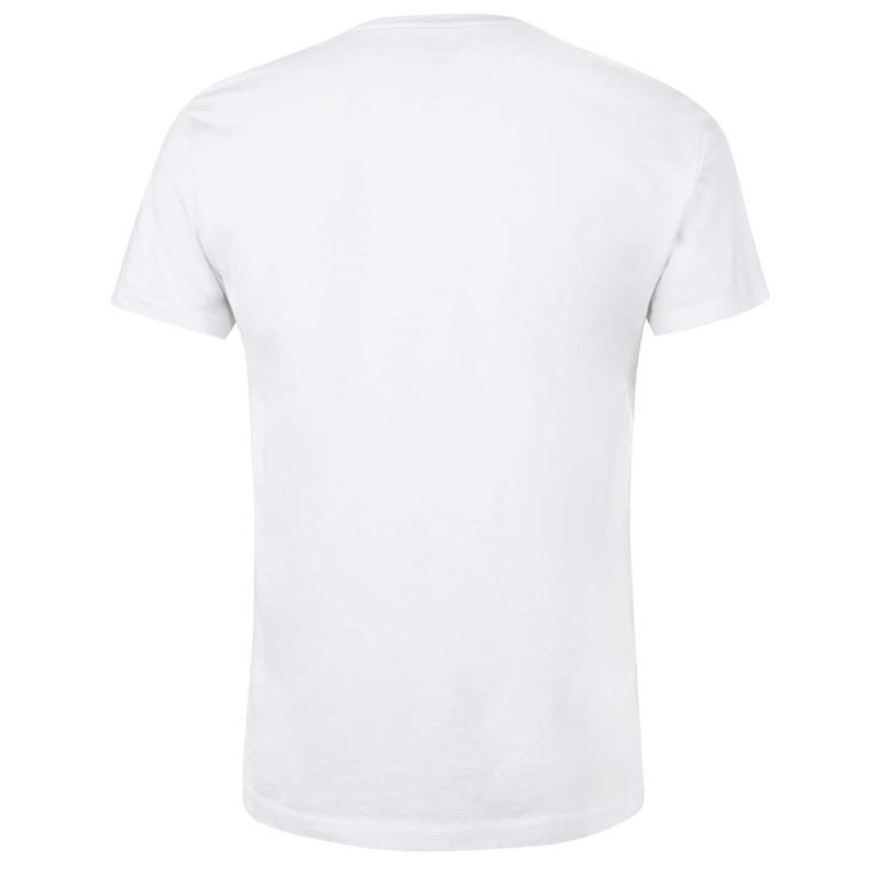 Tričko Hackett Mr Classic T Shirt Ecru