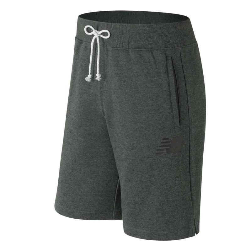New Balance Fleece Shorts Mens Charcoal