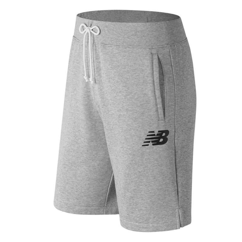 New Balance Fleece Shorts Mens Grey