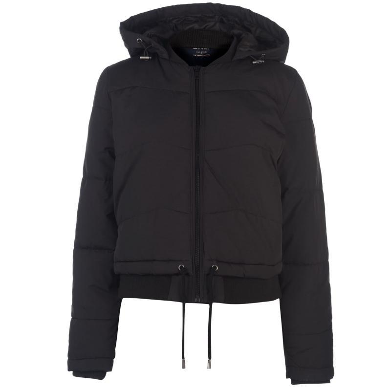 Only Aida Short Puffer Jacket Black