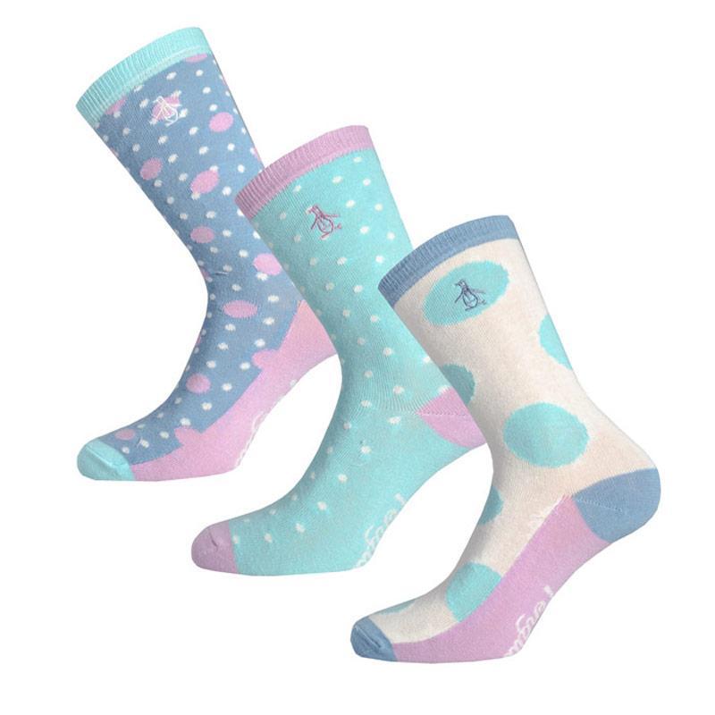 Ponožky Original Penguin Womens 3 Pack Socks Black