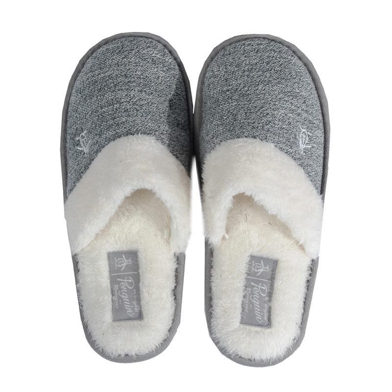 Original Penguin Womens Knitted Slippers Grey