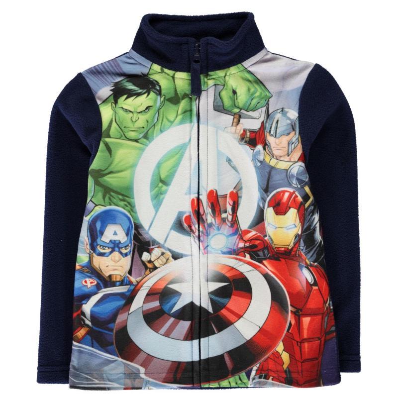 Mikina Character Zip Fleece Infant Boys Avengers