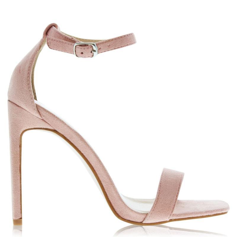 Boty Glamorous Suede Heels Pink Suede