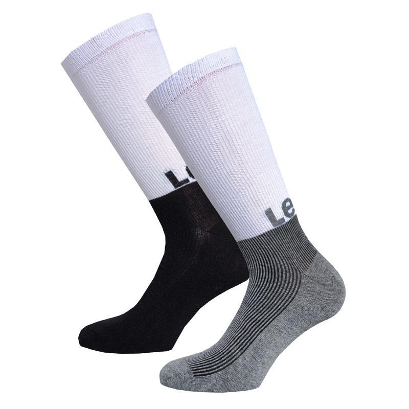 Ponožky Levis Mens Graphic 2 Pack Socks Black Grey White