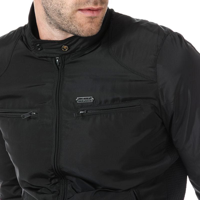 Diesel Mens Jeffir-R Biker Jacket Black