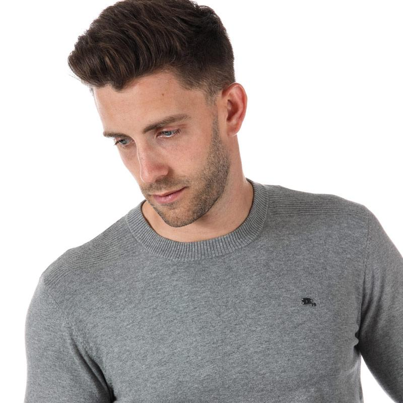 Diesel Mens K-Pablo Crew Neck Jumper Grey