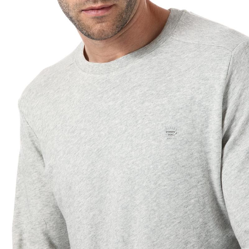 Mikina Diesel Mens S-Dant New Logo Sweat-Shirt Light Grey