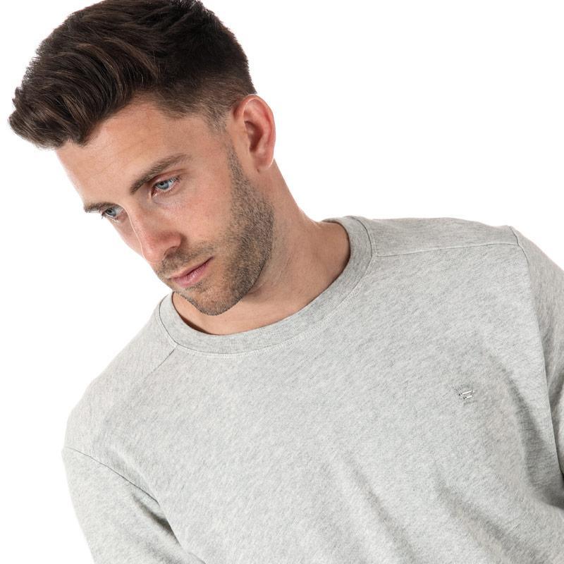 Mikina Diesel Mens S-Dant New Logo Sweat-Shirt Light Grey Velikost - M