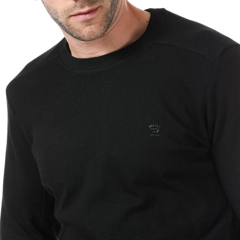 Mikina Diesel Mens S-Dant New Logo Sweat-Shirt Black