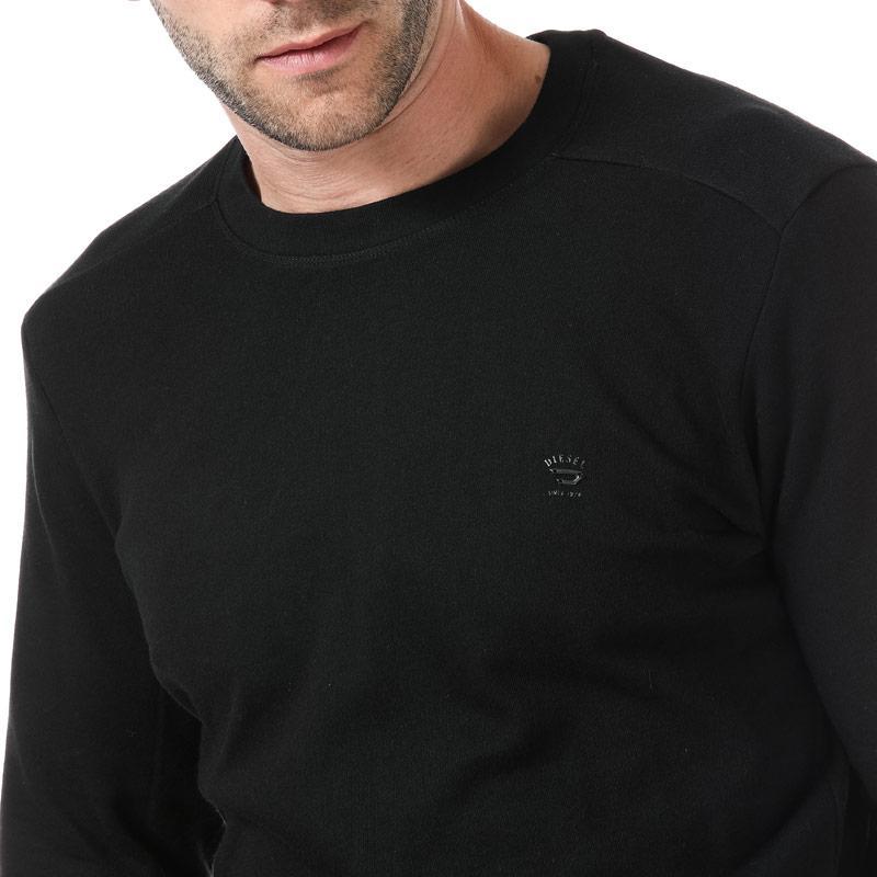 Mikina Diesel Mens S-Dant New Logo Sweat-Shirt Black