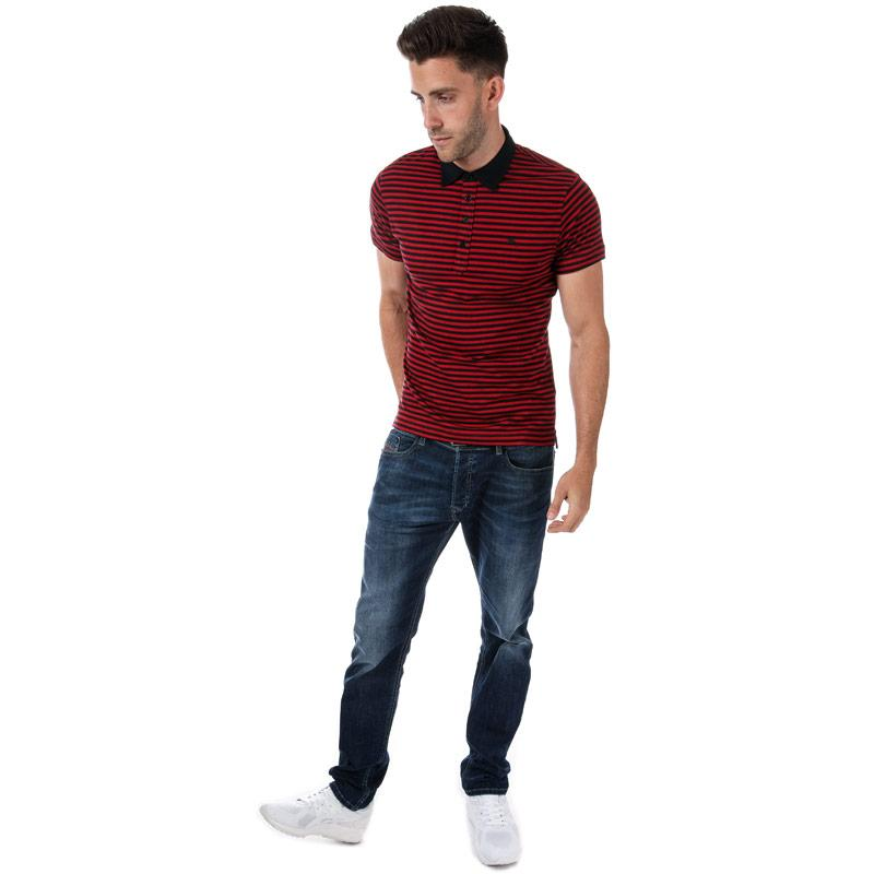 Diesel Mens T-Fuel Polo Shirt Red