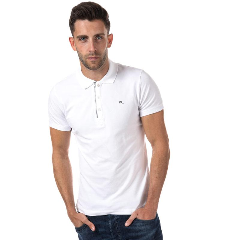 Diesel Mens T Kalars Polo Shirt White