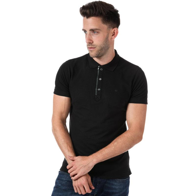 Diesel Mens T Kalars Polo Shirt Black
