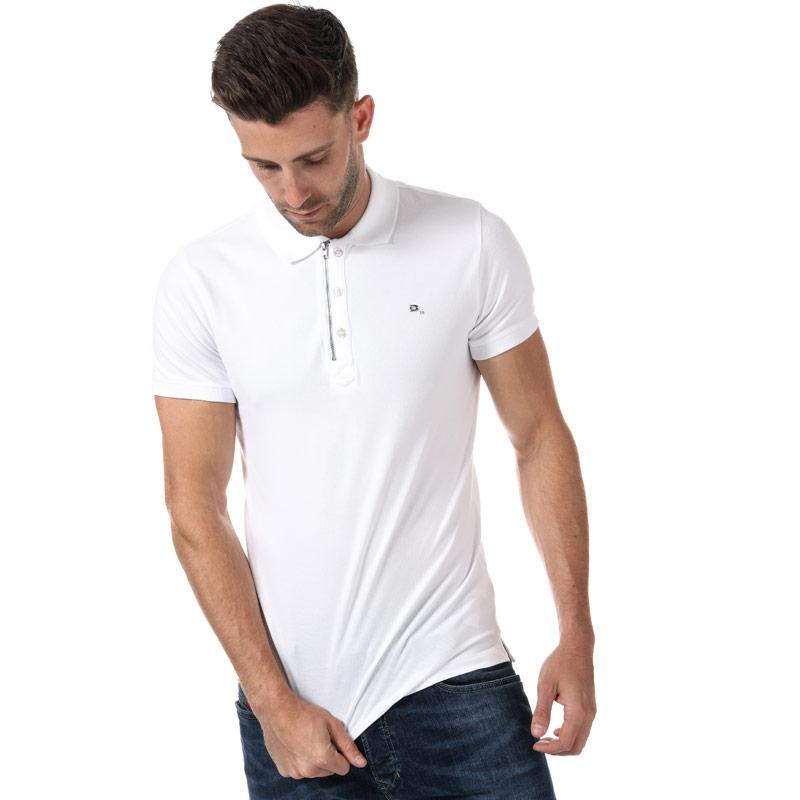 Diesel Mens T Kalars Polo Shirt White Velikost - XL