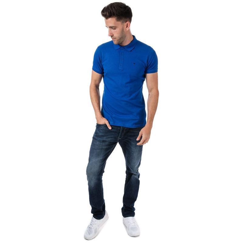 Diesel Mens T-Yaheix NewFit Polo Shirt Blue