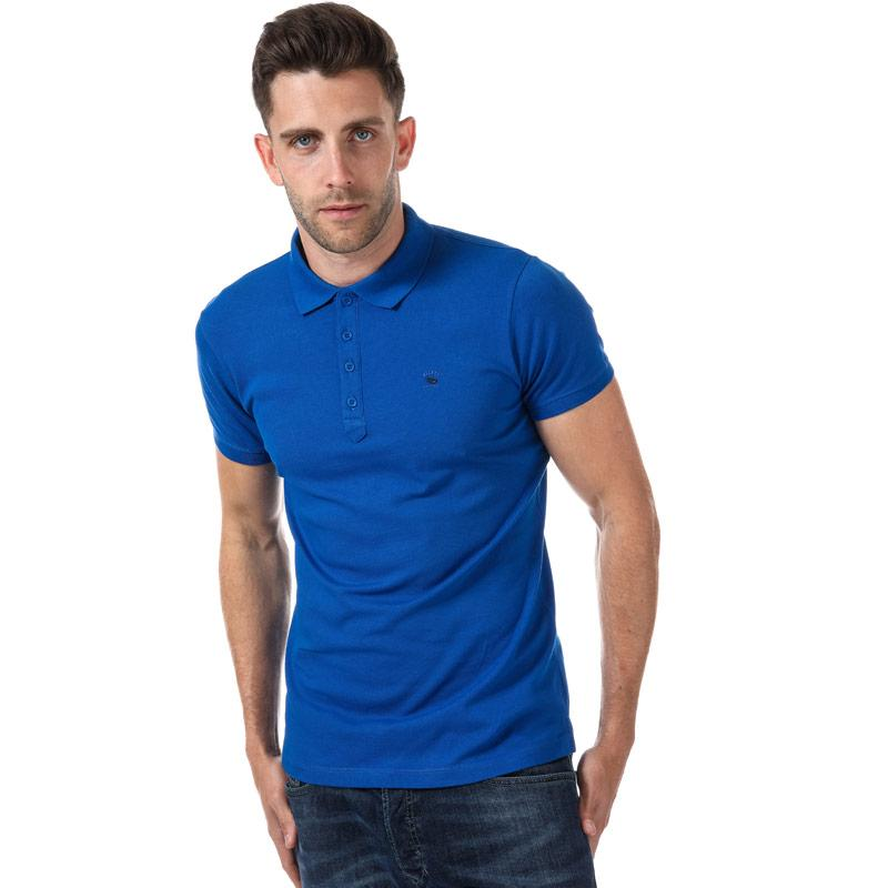 Diesel Mens T-Yaheix NewFit Polo Shirt Blue