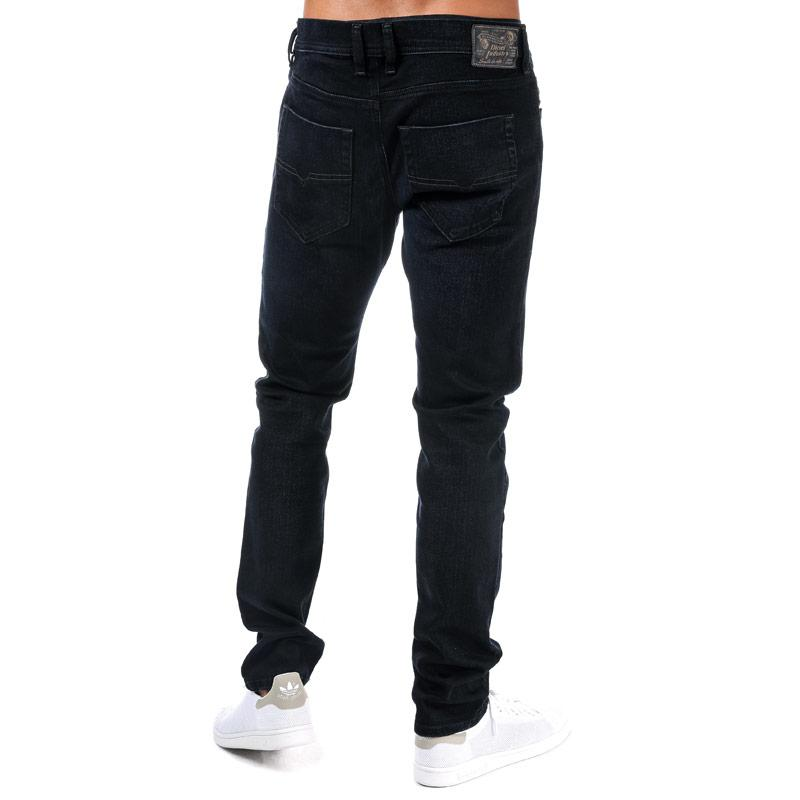 Diesel Mens Tepphar Slim Carrot Leg Jeans Denim