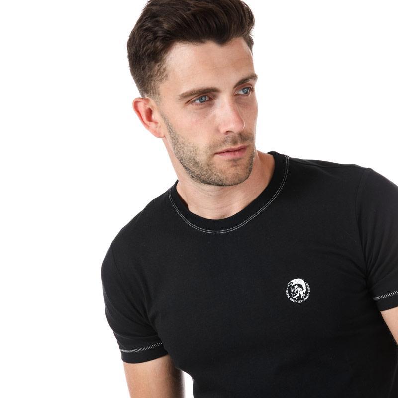 Tričko Diesel Mens UMLT Jake T Shirt Black Velikost - L