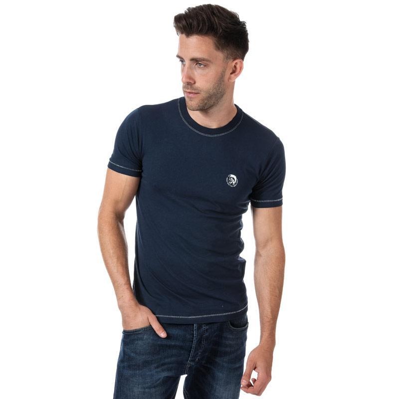 Tričko Diesel Mens UMLT Jake T Shirt Blue