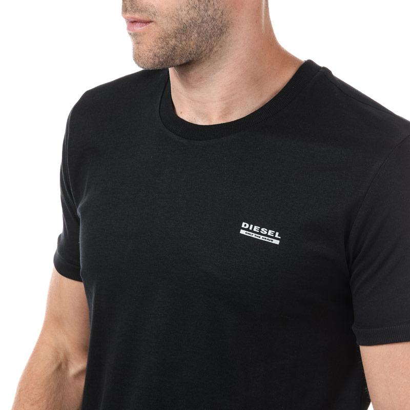 Tričko Diesel Mens UMLT Jake T Shirt Black Velikost - S